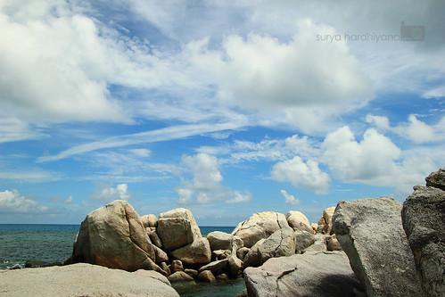 Gugusan Batu di Pulau Lengkuas