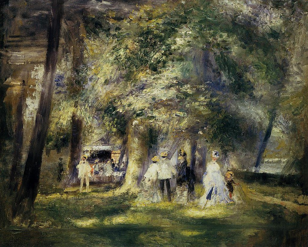 In St Cloud Park by Pierre-Auguste Renoir, 1866