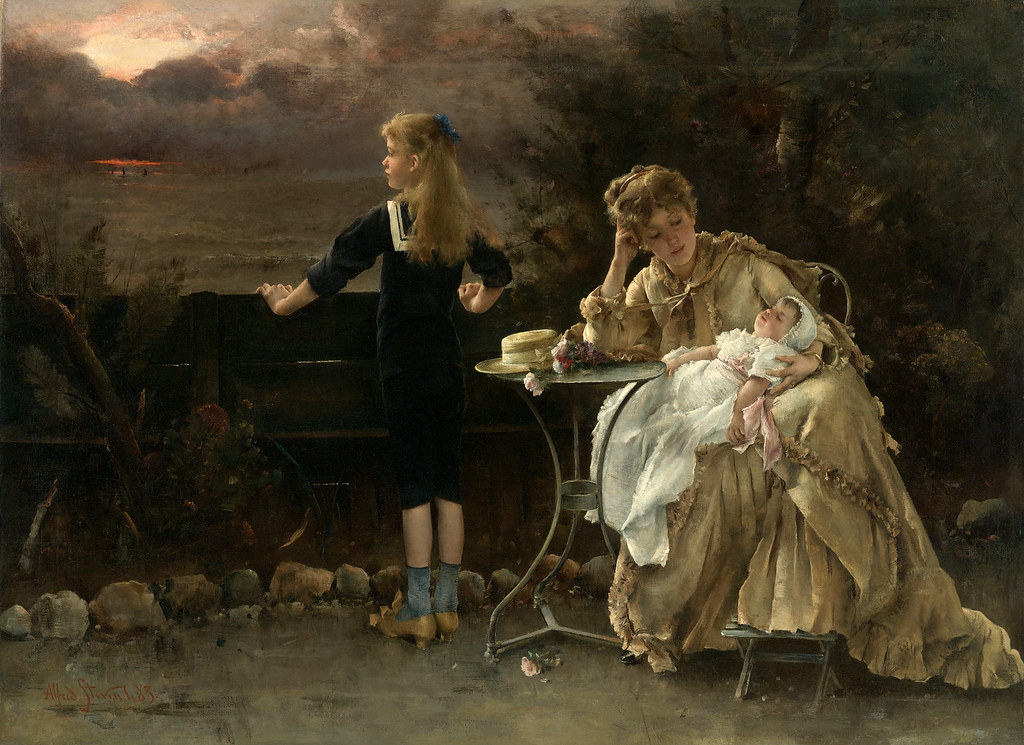 Mother and Children by Alfred Stevens, 1882
