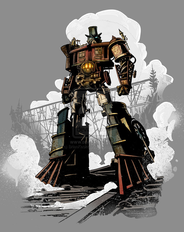 Steampunk Transformers Optimus Prime by Brian Kesinger