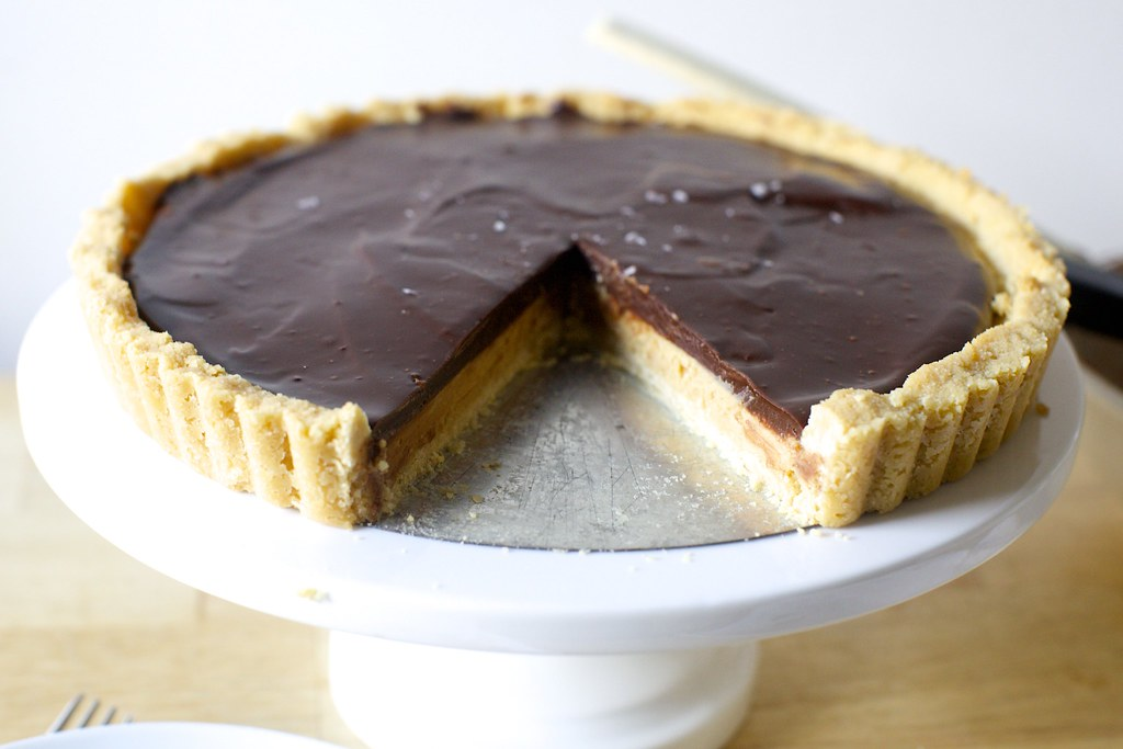 peanut butter chocolate tart, tagalongs-style | Chocolate ...