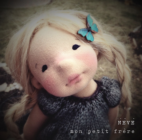 Neve- A 15 inch Natural Fiber Art Doll