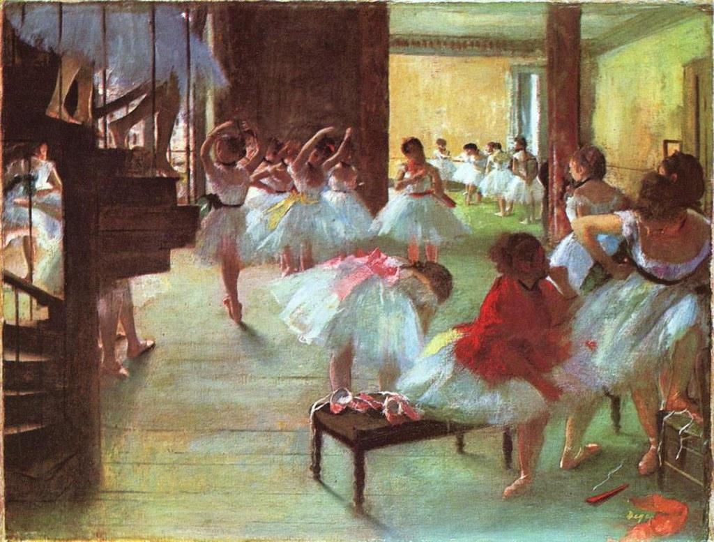 Ballet School by Edgar Degas, 1873