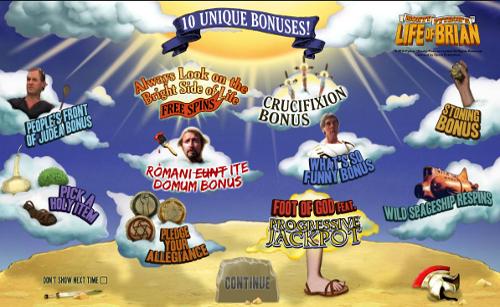 free Monty Python's Life of Brian bonus game