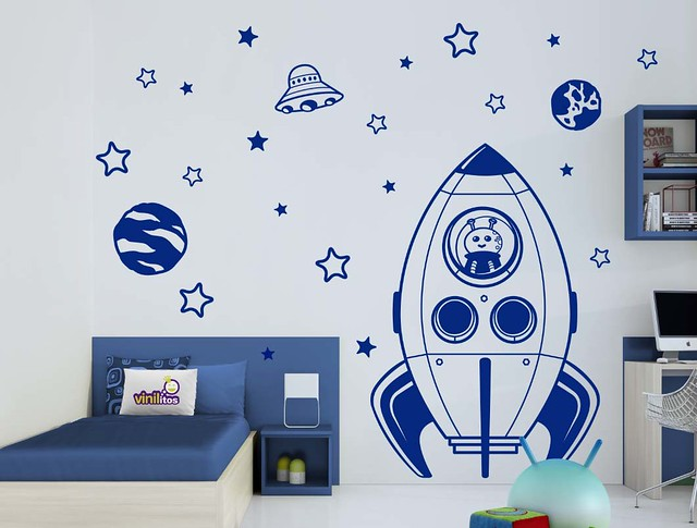 Viniles vinilos stickers decoracion infantil bs 87 for Vinilo pared habitacion