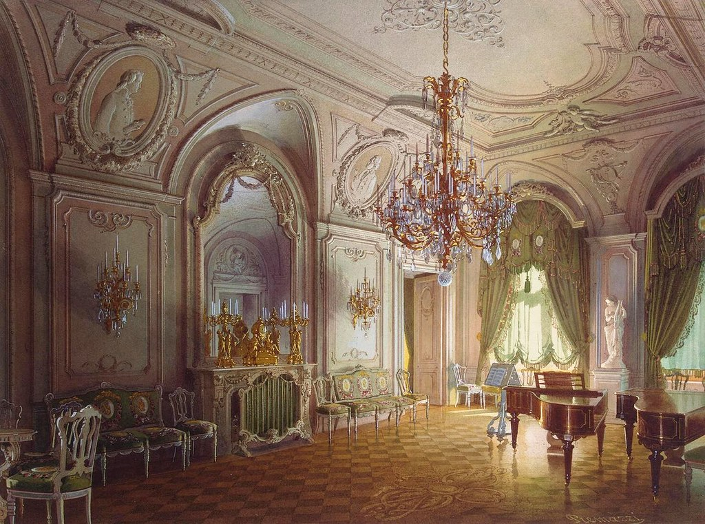 The Russian mansion of von Stieglitz: the Concert Hall, 1870