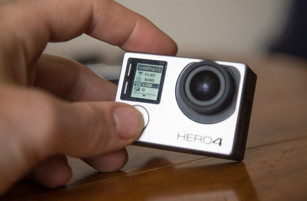 Changing the gopro camera settings for 360 filming. Sharpness to low