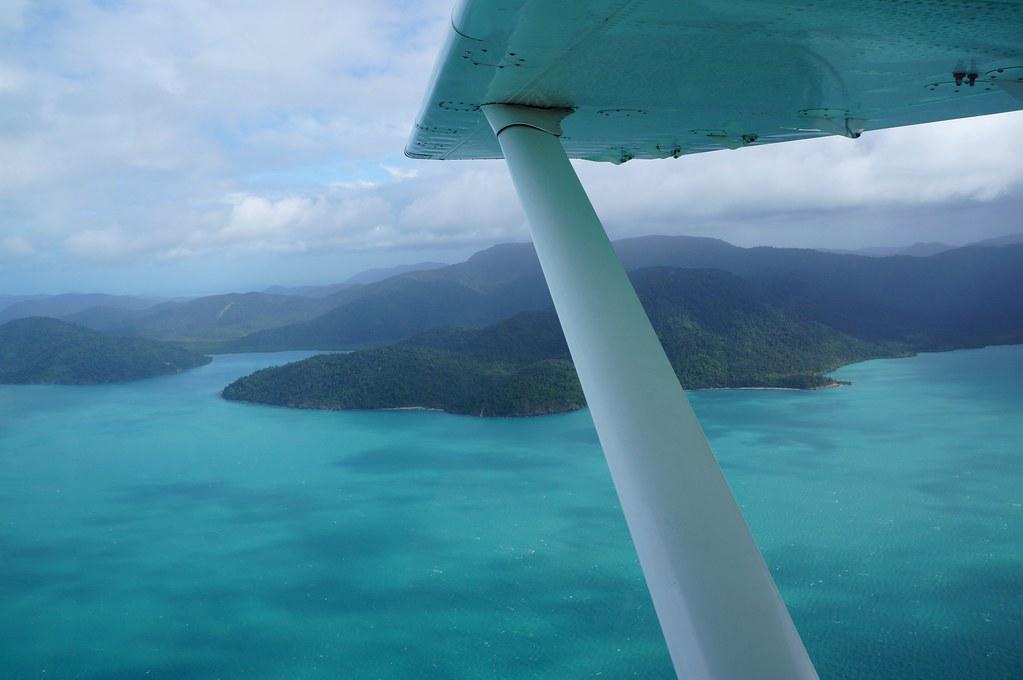 Flying over the Whitsundays