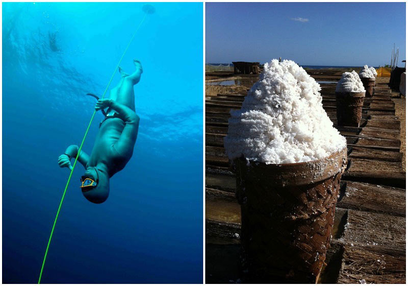 Amed diving and salt