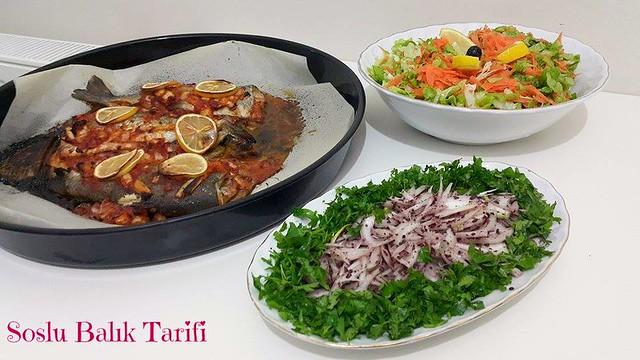 fırında soslu balık tarifi