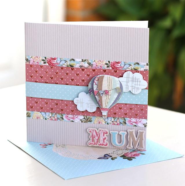 Bellissima Hot Air Balloon Mother's Day Card by StickerKitten