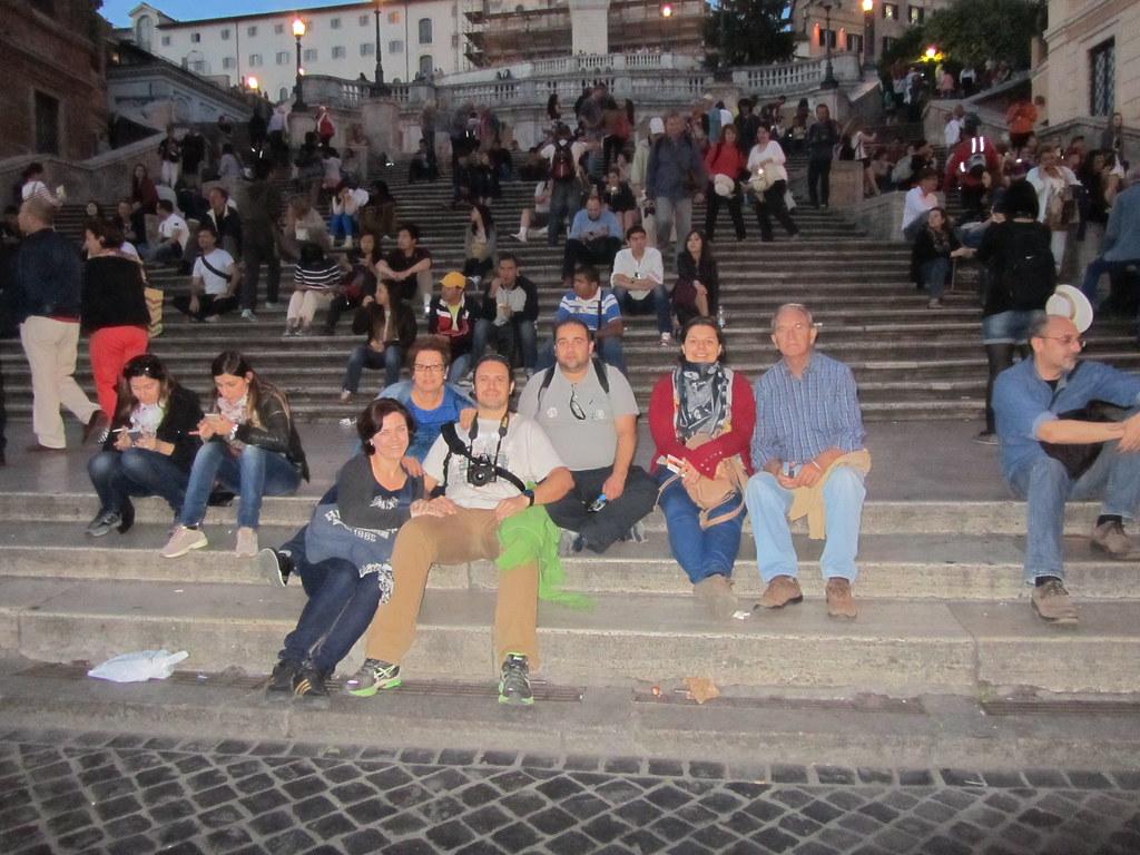 Escaleras de la Plaza de España en Roma