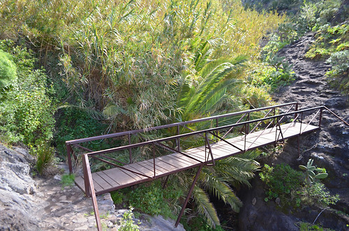 Bridge across a gully, Masca Barranco, Tenerife