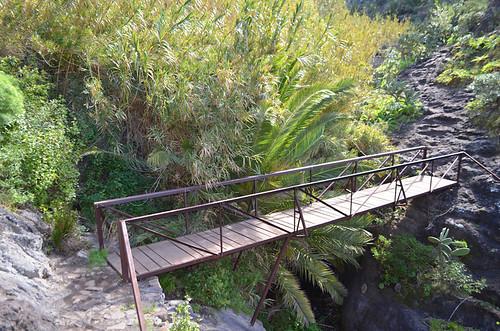 Bridge across a gully, Masca Barranco, Tenerife