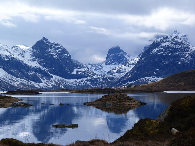 Paisaje de Islas Lofoten (Noruega)