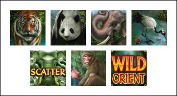 free Wild Orient slot game symbols