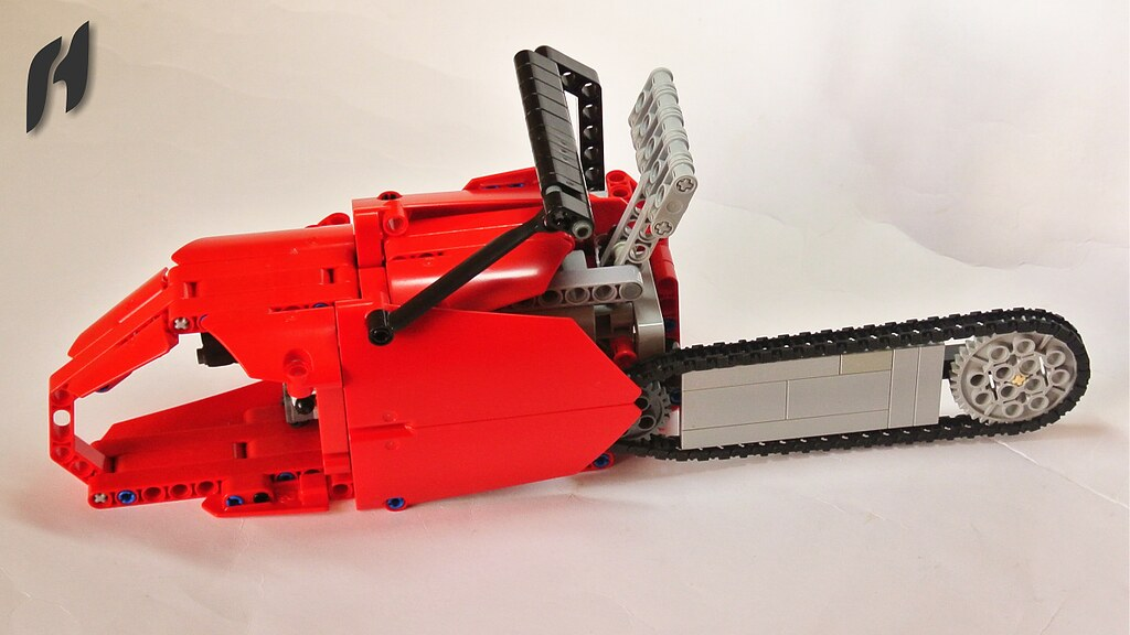lego technic chainsaw with power functions motor flickr. Black Bedroom Furniture Sets. Home Design Ideas