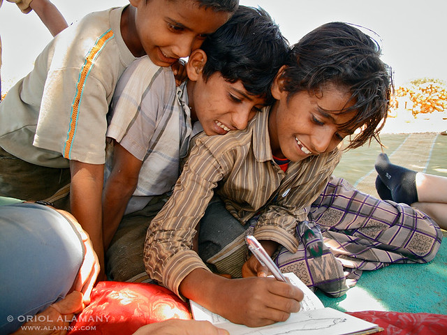 Niños en la isla de Socotra (Fotografía de Oriol Alemany)