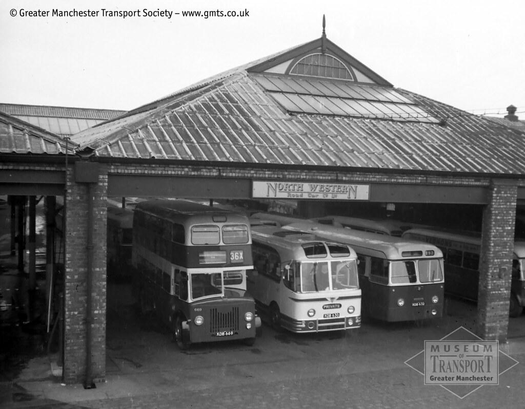 New buses line up at north western 39 s stockport garage flickr for Western garage