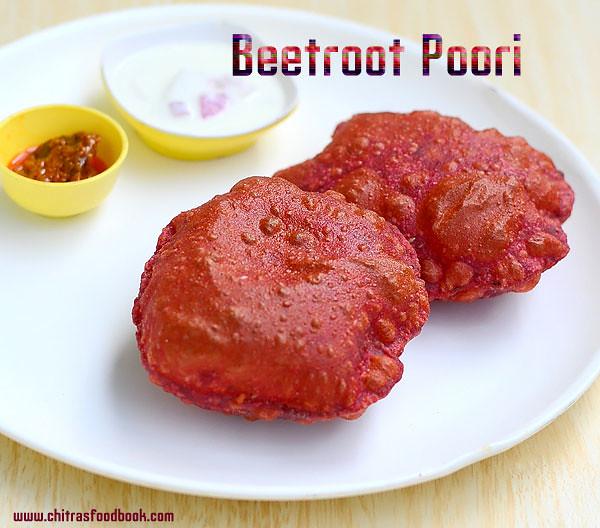 Beetroot poori