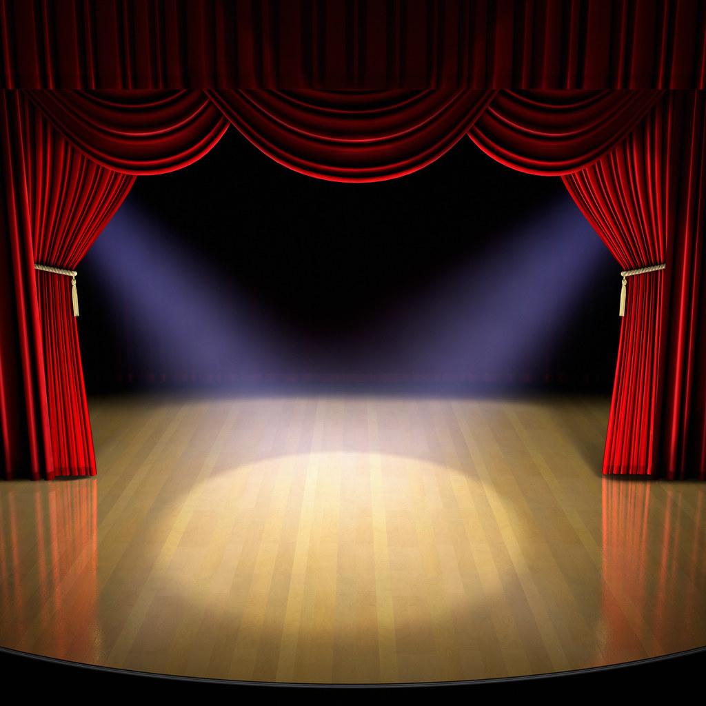 Stage curtains spotlight - Stage Curtains Spotlight 2
