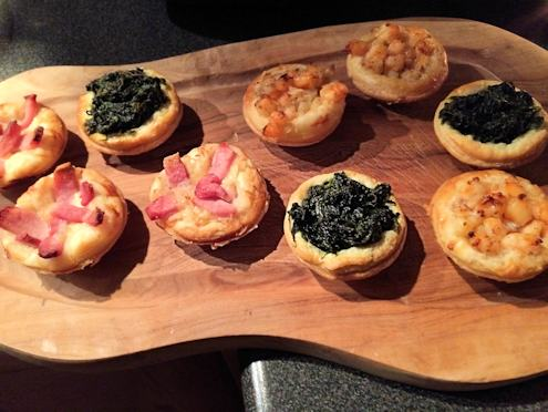 Puff pastry tartlets