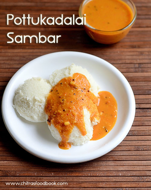 pottukadalai sambar for idli