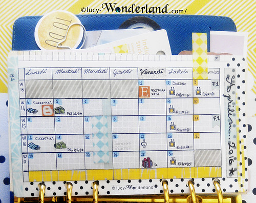 vista mensile all'interno del mio sistema bullet journal
