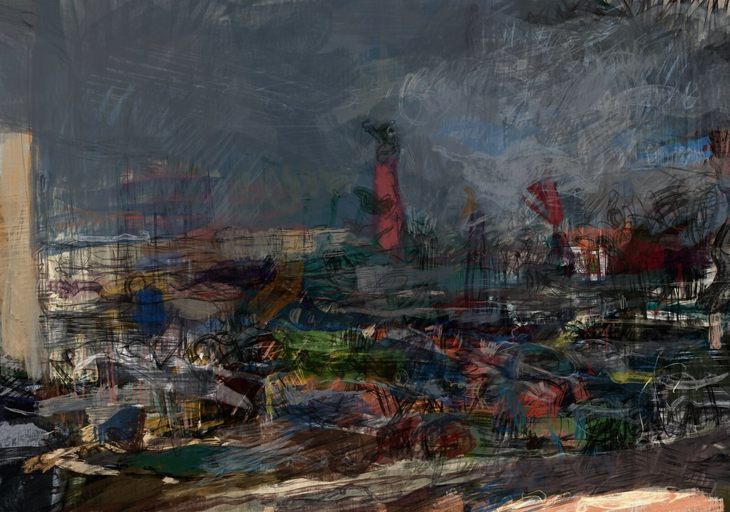 Image result for dirty urban landscape painting