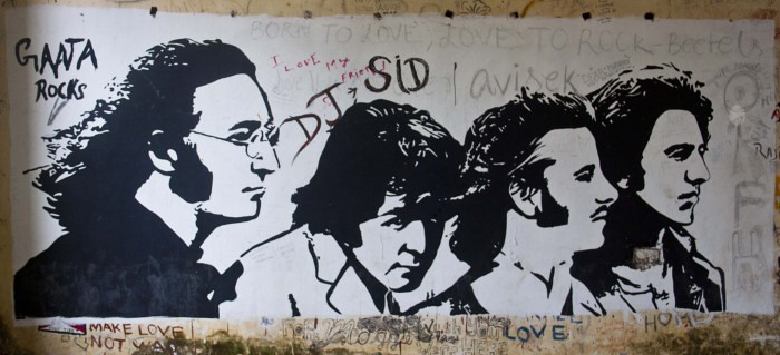 Graffiti in Beatles Ashram in Rishikesh, India