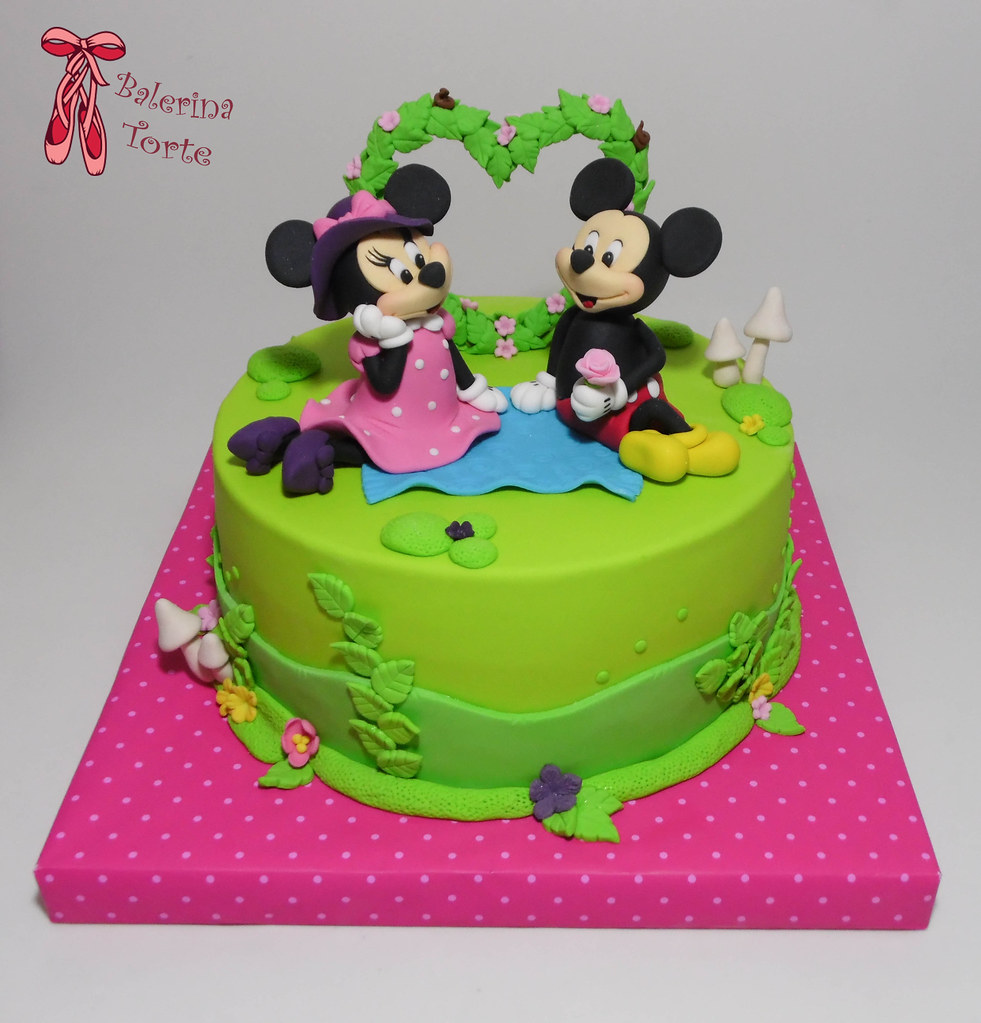 Mickey And Friends Cake Design