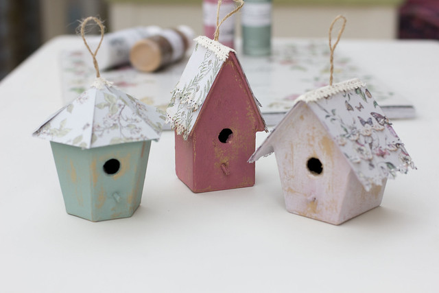 English Garden Birdhouses by StickerKitten