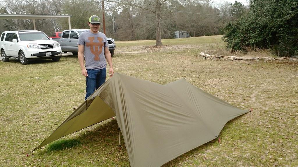 DIY ultralight tarp tent | My son, Steven, made me a ...