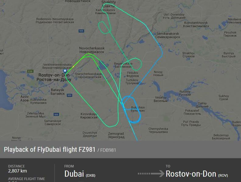 Dubai Airlines plane crashed in Russia crash