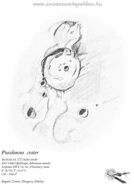 Posidonius crater - speed sketch - Bognár Tamás, Zákány