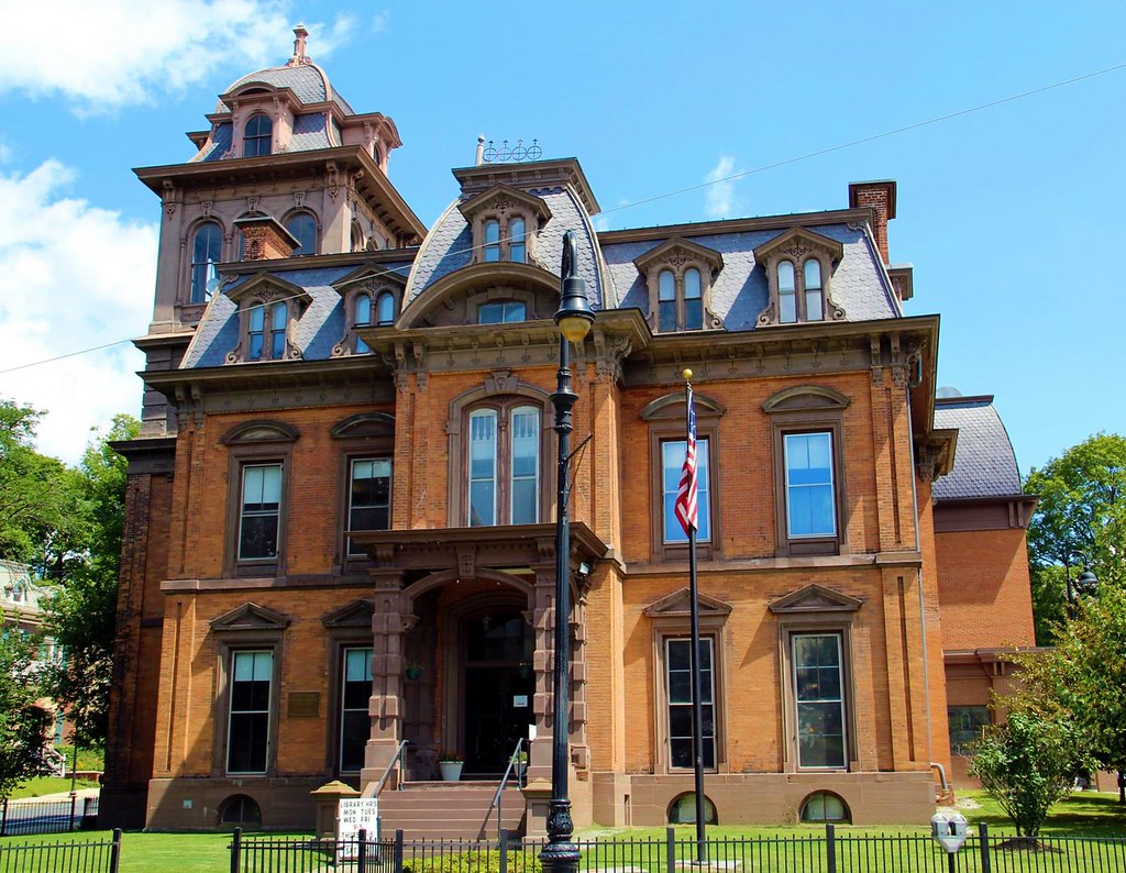 North Adams Public Library (North Adams, Massachusetts). Built in 1865 for Sanford Blackinton. Image credit C Hanchey, flickr.