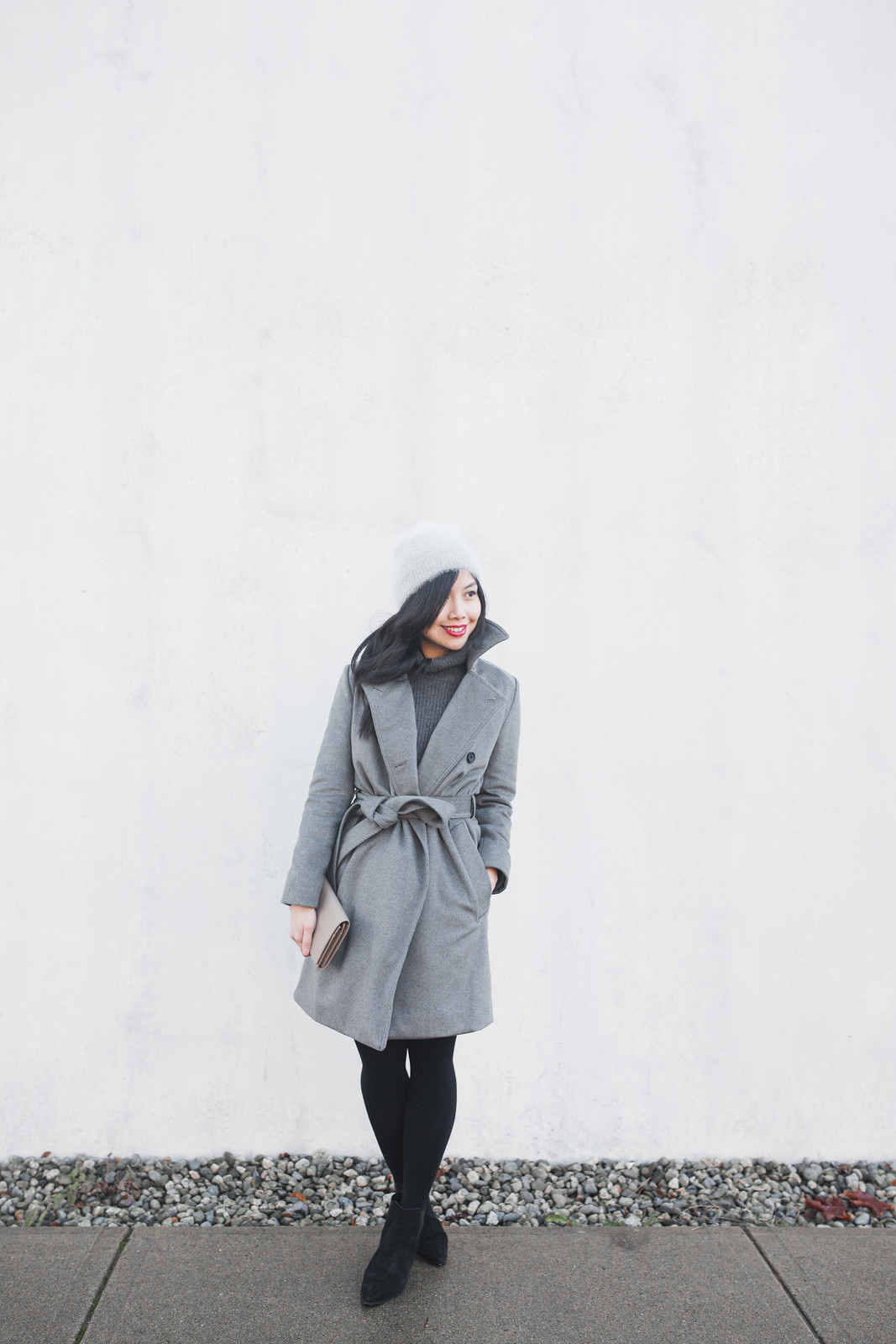 everlane wool trench