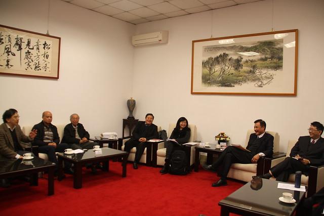 公督盟拜會立法院院長蘇嘉全、秘書長林志嘉。攝影:彭瑞祥。
