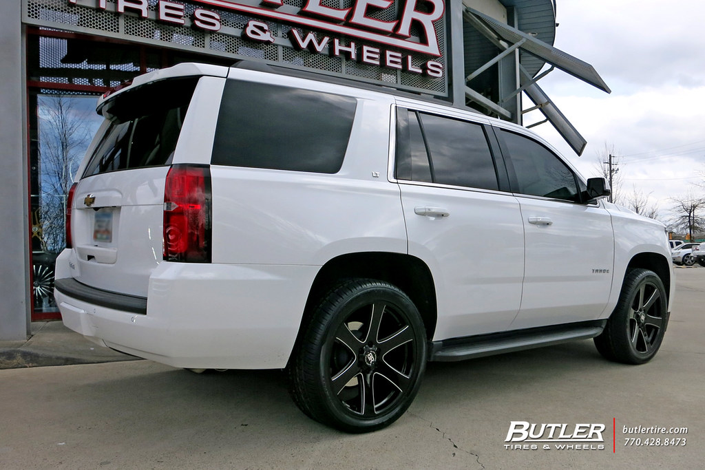 Chevy Tahoe with 22in Black Rhino Haka Wheels and Nexen Ro ...
