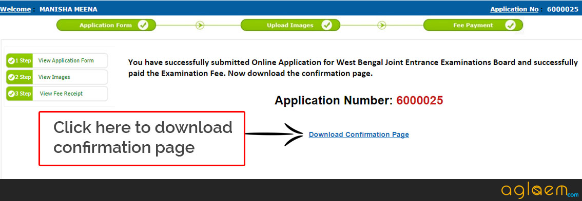 WBJEE 2016 Application Form