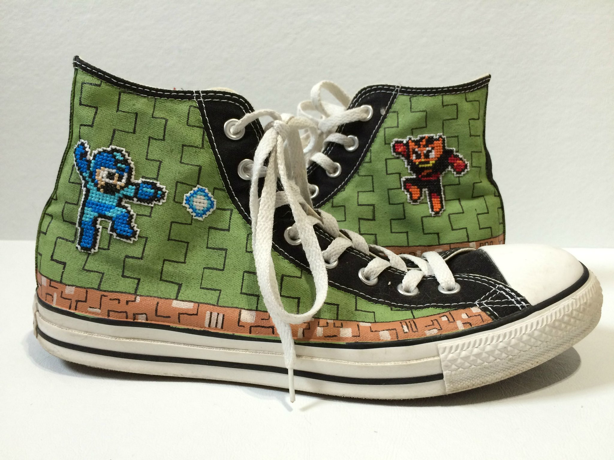 Mega Man sneakers by SheriffKarli