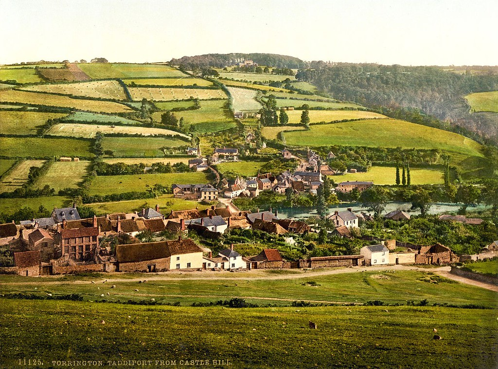 Taddiport from Castle Hill, Torrington, Devon