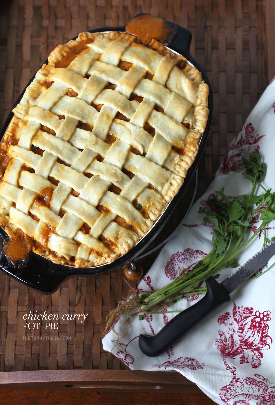 25785585354 4fd5e75363 h - A dreamy Chicken Curry Pot Pie in my pretty KitchenAid Casserole