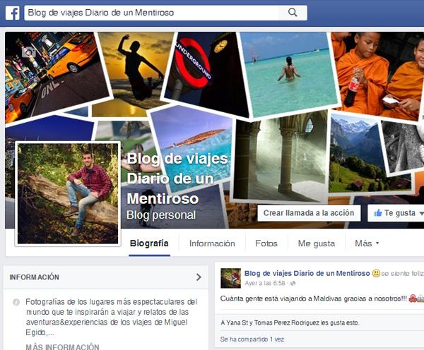 Página facebook de Diario de un Mentiroso