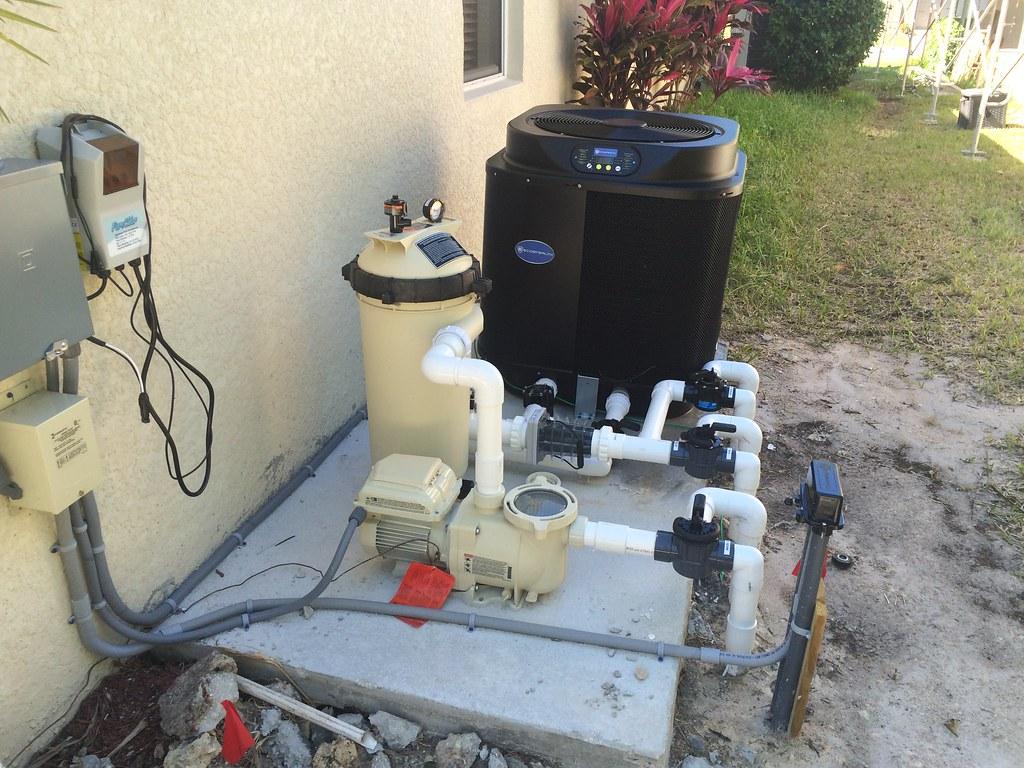 Salt Water Pool Plumbing : Pool plumbing complete salt water chlorinator on wall not