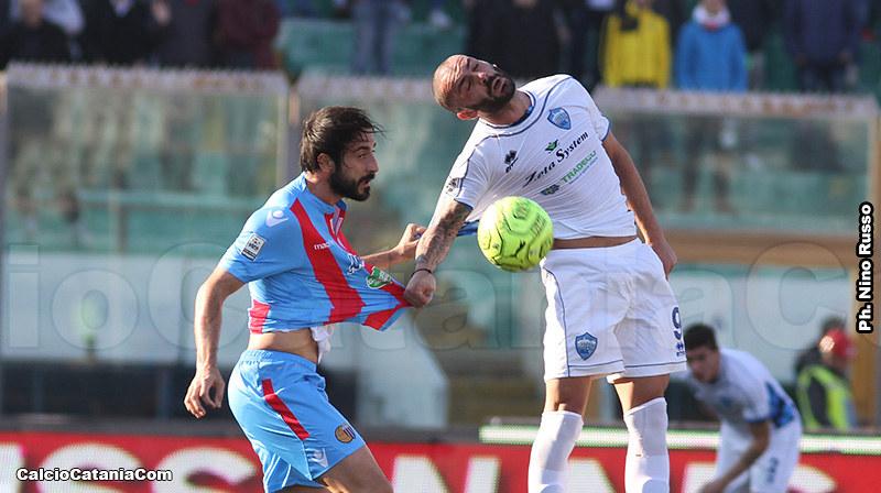 Il duello tra Bergamelli ed Infantino nella sfida della scorsa stagione