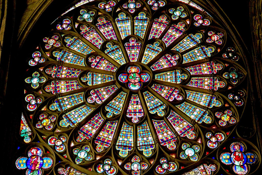 Basilica of Saint-Nazaire is noted for its stained glass windows. Photo Dennis Jarvis