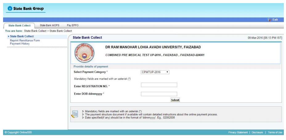 UPCPMT 2016 Online Registration Form