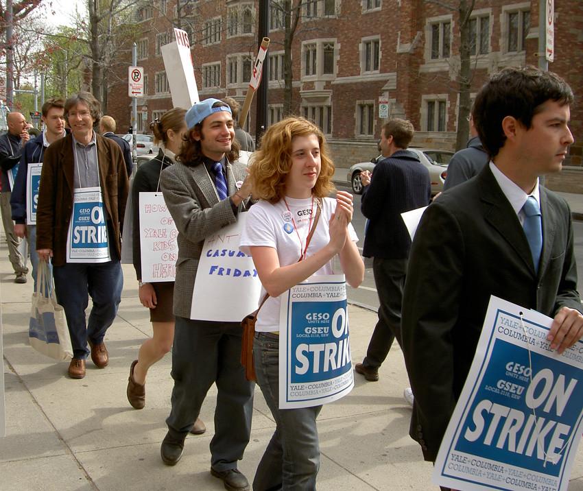 2005年,GESO在耶魯大學的抗議行動。(圖片來源:維基百科)