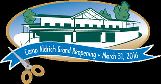 Camp Aldrich re-opening logo